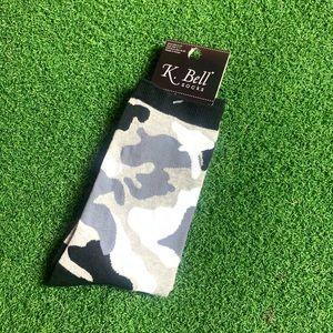 Camouflage Black Gray Crew Socks